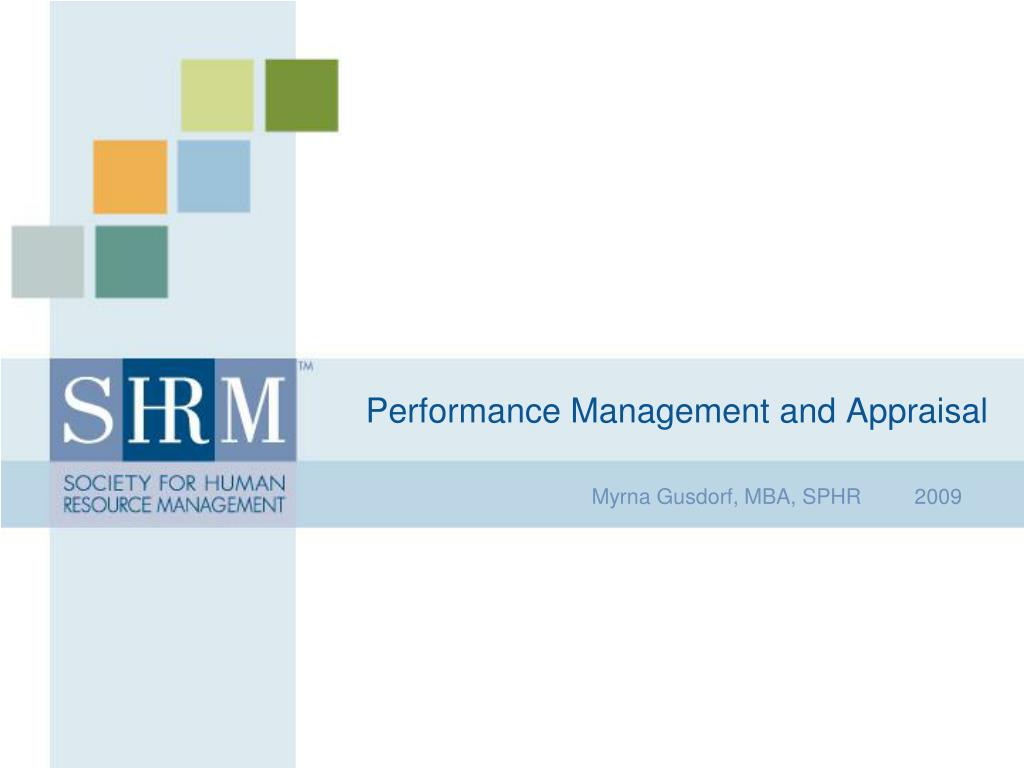 performance management and appraisal l.