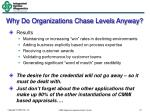 why do organizations chase levels anyway