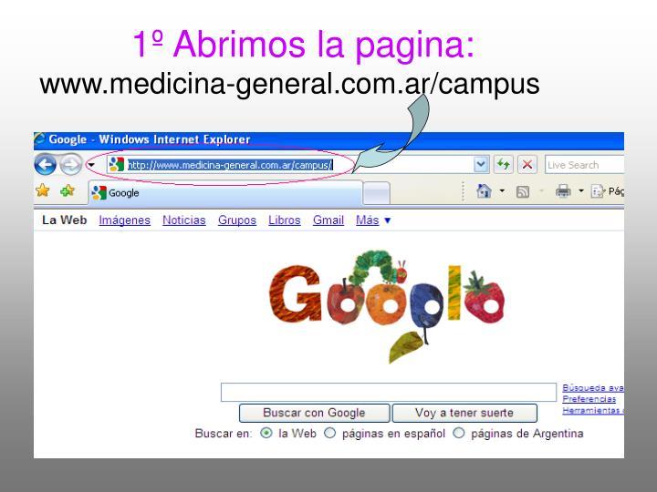 1 abrimos la pagina www medicina general com ar campus