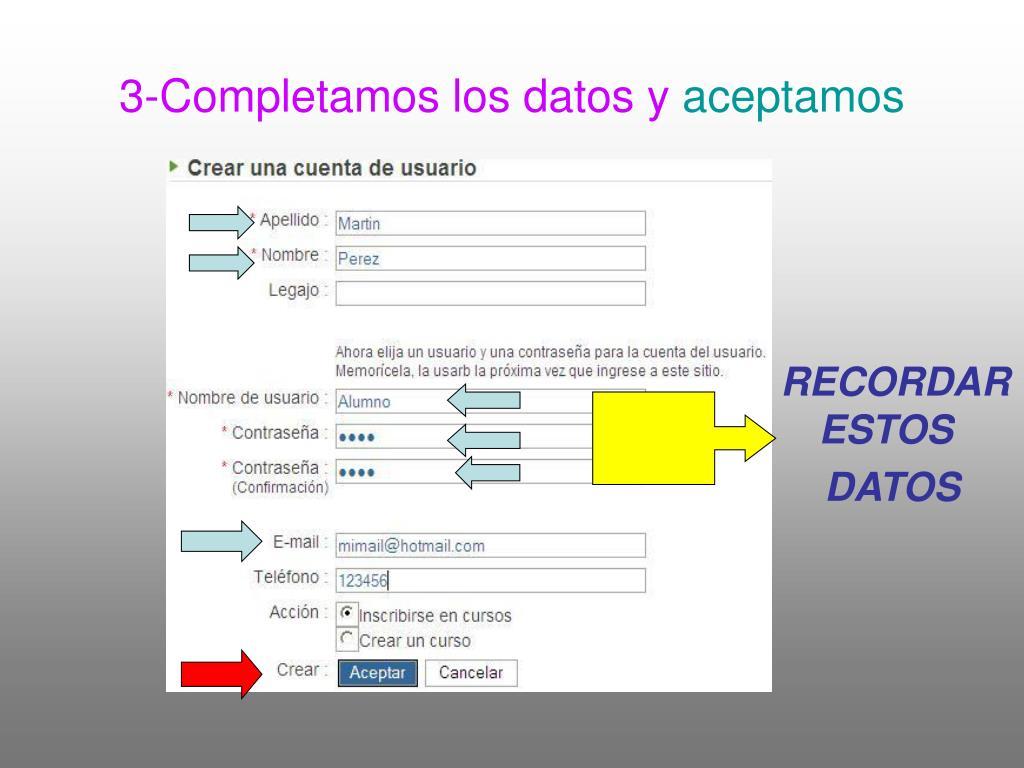 3-Completamos los datos y