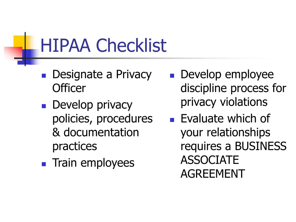 PPT - HIPAA As It Applies To The DENTAL OFFICE PowerPoint