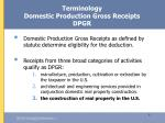 terminology domestic production gross receipts dpgr