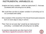 instrumental variables 4