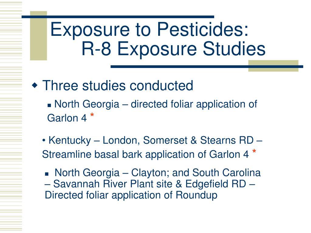 Exposure to Pesticides: