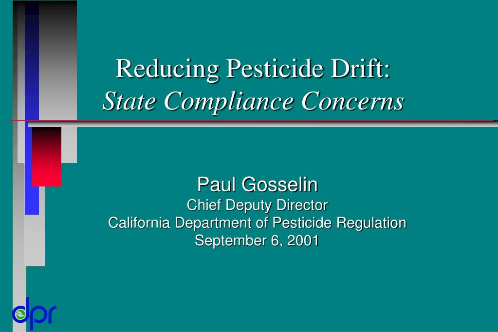 reducing pesticide drift state compliance concerns l.