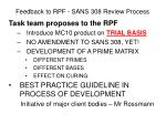 feedback to rpf sans 308 review process20