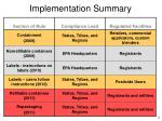 implementation summary