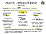 analytic comparison group