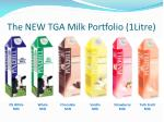 the new tga milk portfolio 1litre
