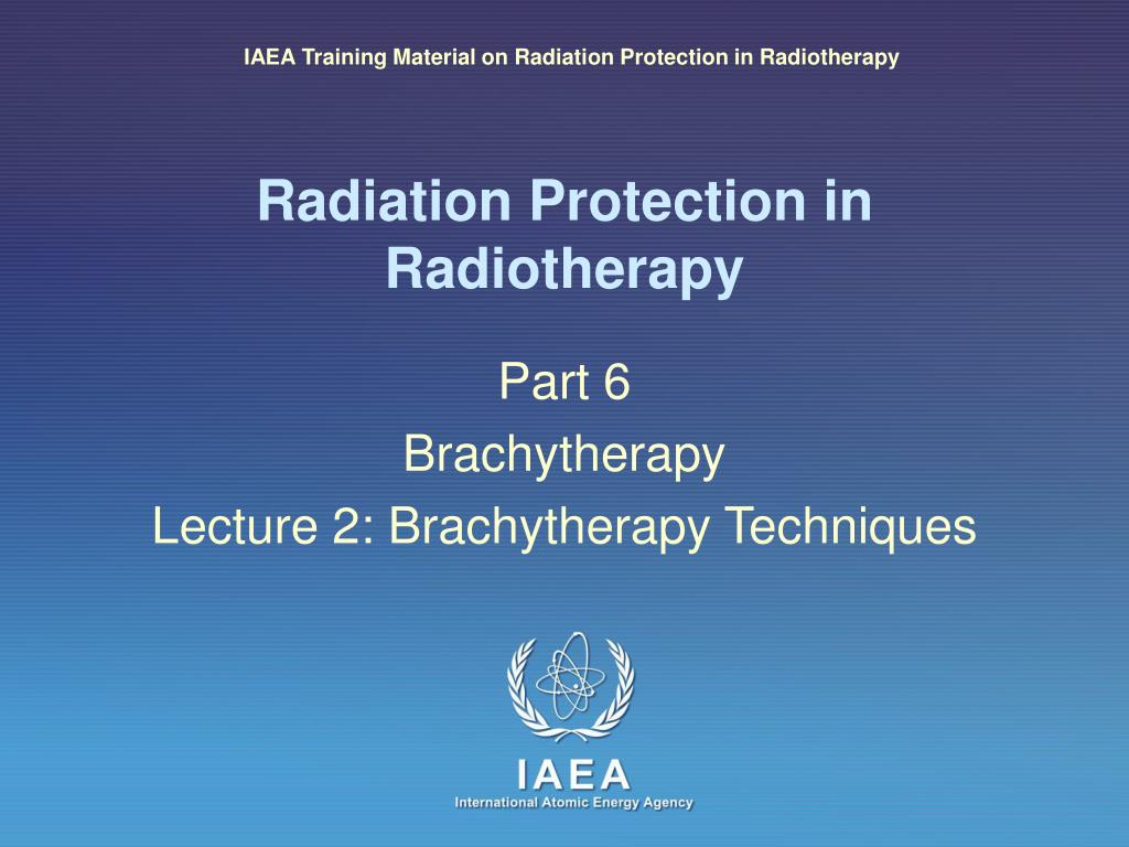 radiation protection in radiotherapy l.