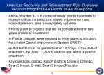 american recovery and reinvestment plan overview aviation program faa grants in aid to airports