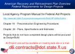 american recovery and reinvestment plan overview federal requirements for design projects15