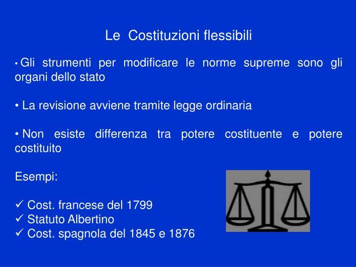 Le  Costituzioni flessibili