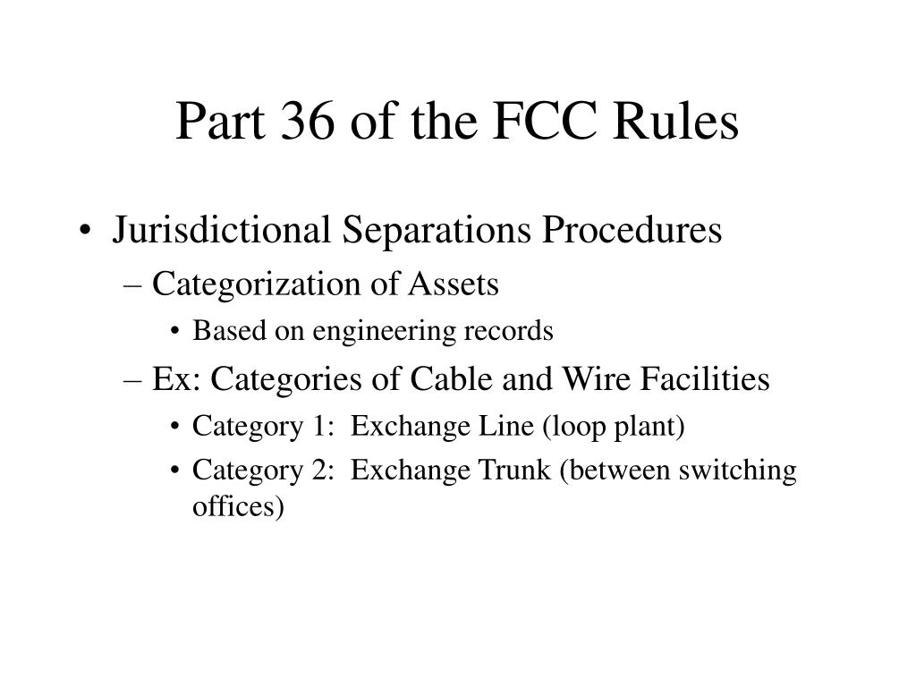 Part 36 of the FCC Rules