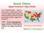 social choice apportionment algorithms