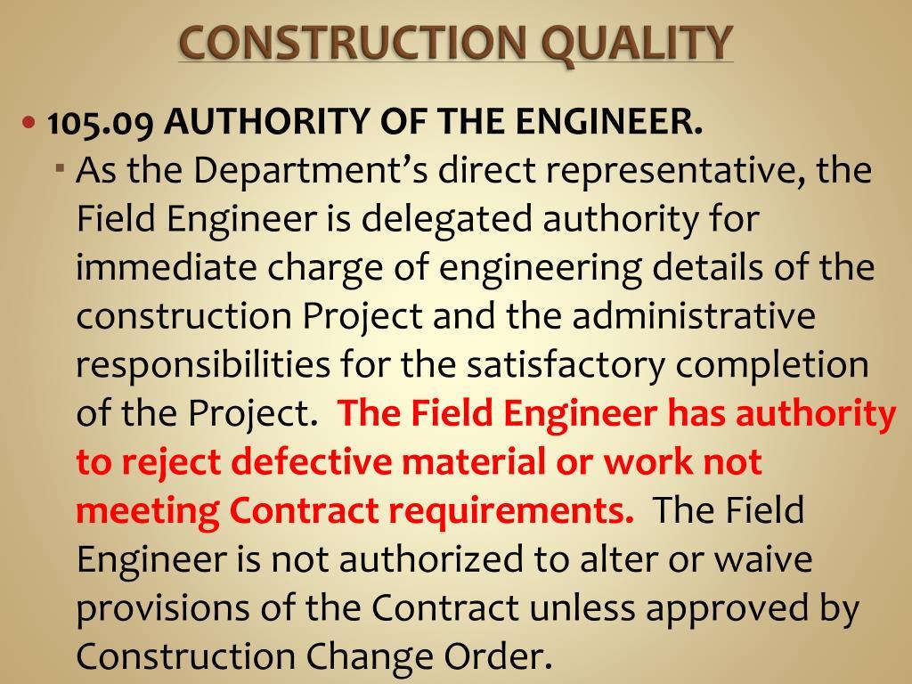 CONSTRUCTION QUALITY