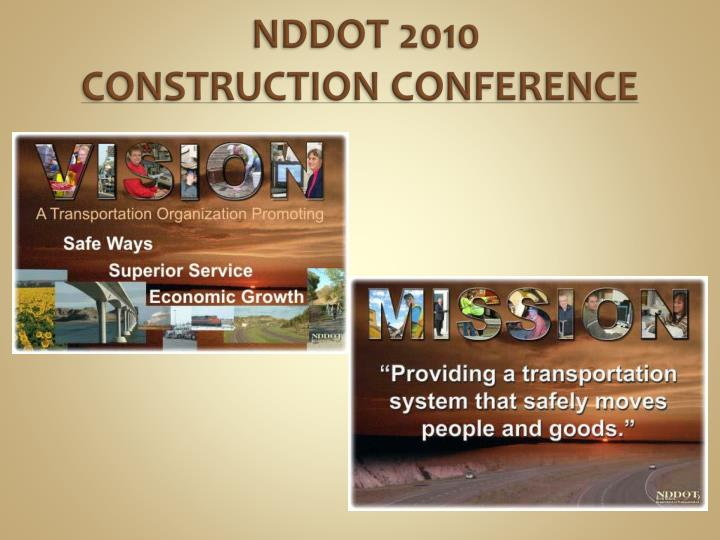 Nddot 2010 construction conference