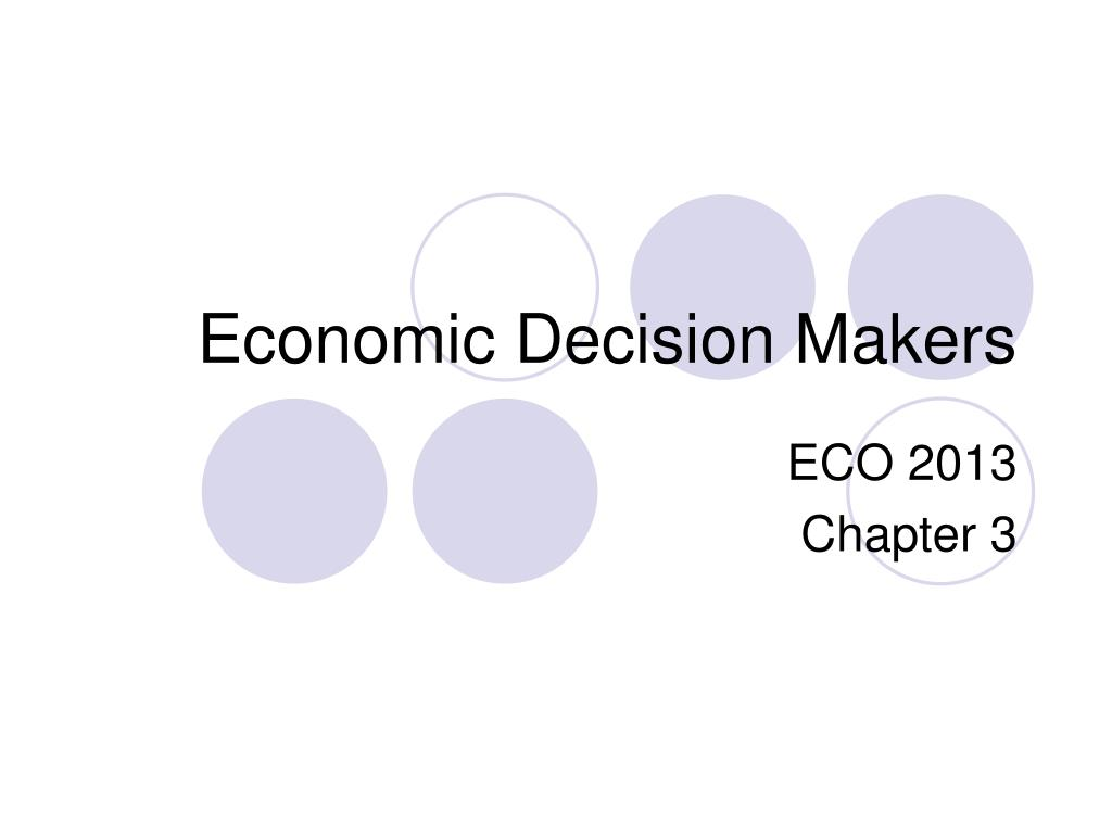 economic decision makers l.