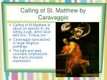 calling of st matthew by caravaggio