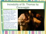 incredulity of st thomas by caravaggio