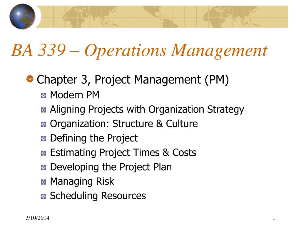 PPT - BA 339 – Operations Management PowerPoint Presentation - ID:155650