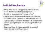 judicial mechanics