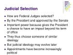 judicial selection