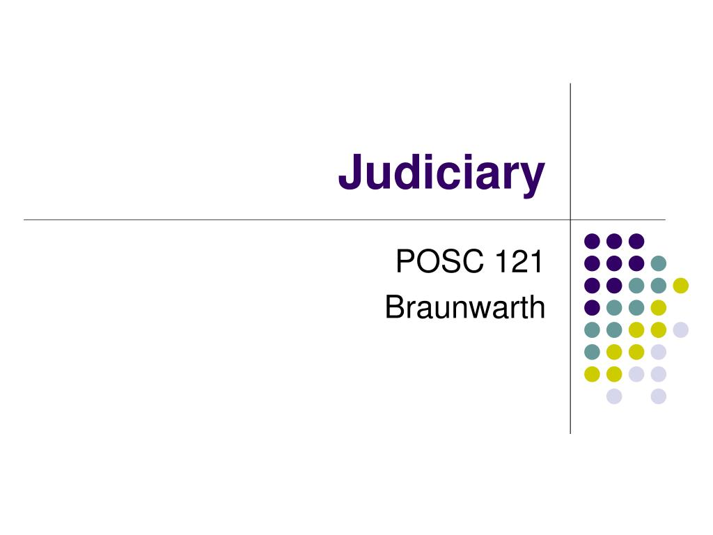judiciary l.