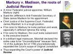 marbury v madison the roots of judicial review