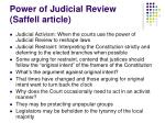 power of judicial review saffell article