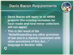 davis bacon requirements