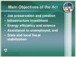 main objectives of the act