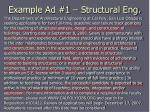 example ad 1 structural eng
