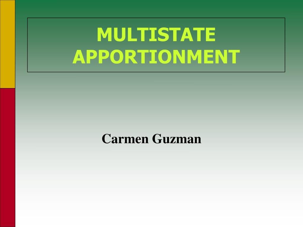 multistate apportionment l.