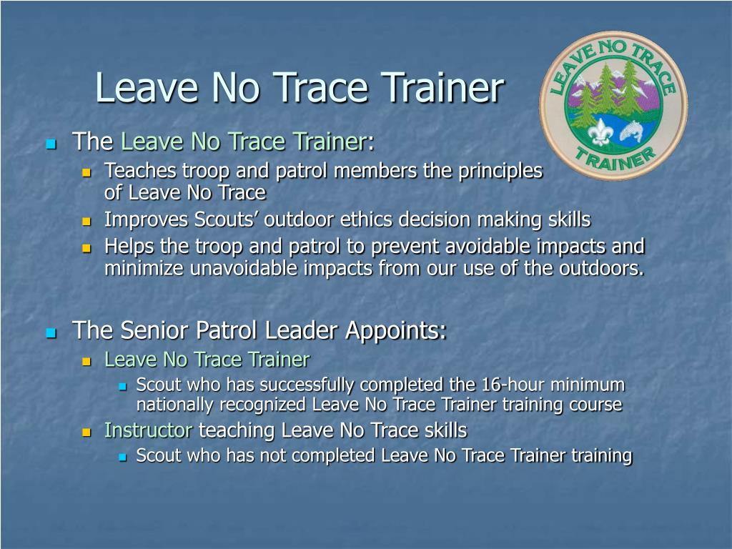 Leave No Trace Trainer