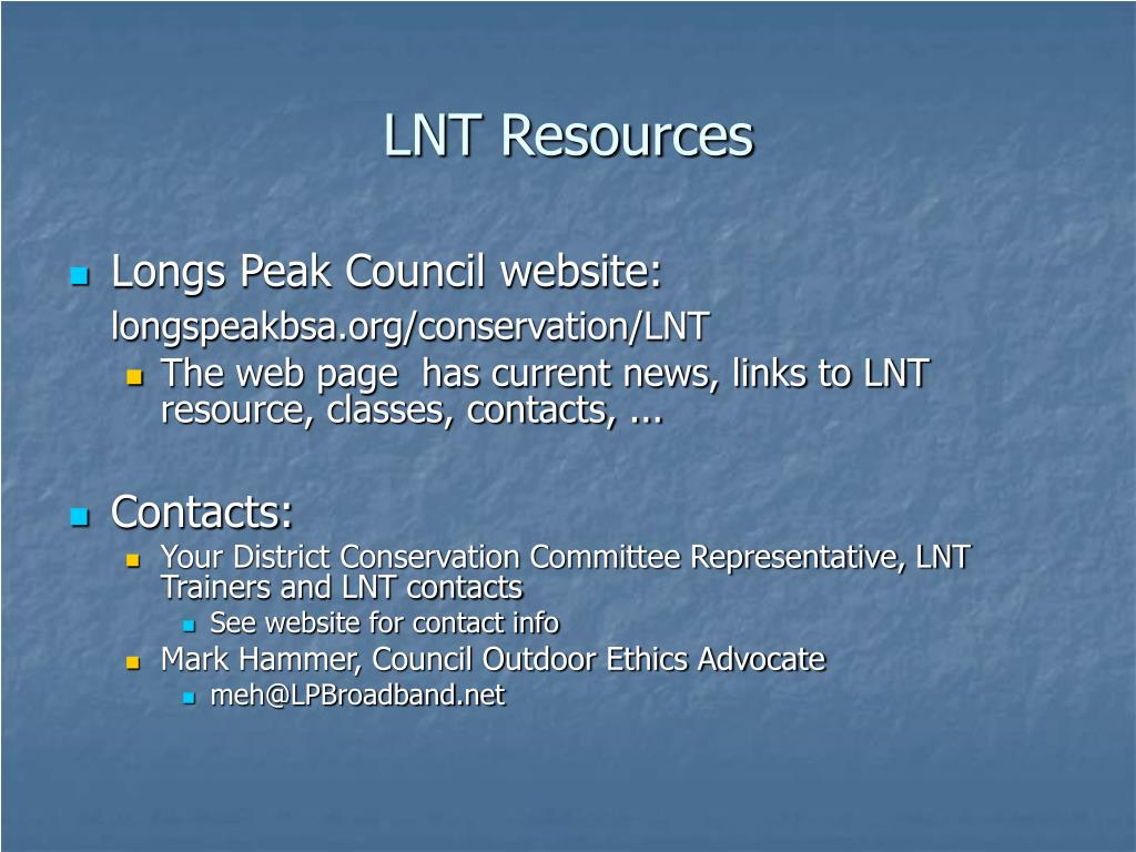 LNT Resources