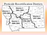 pesticide recertification districts