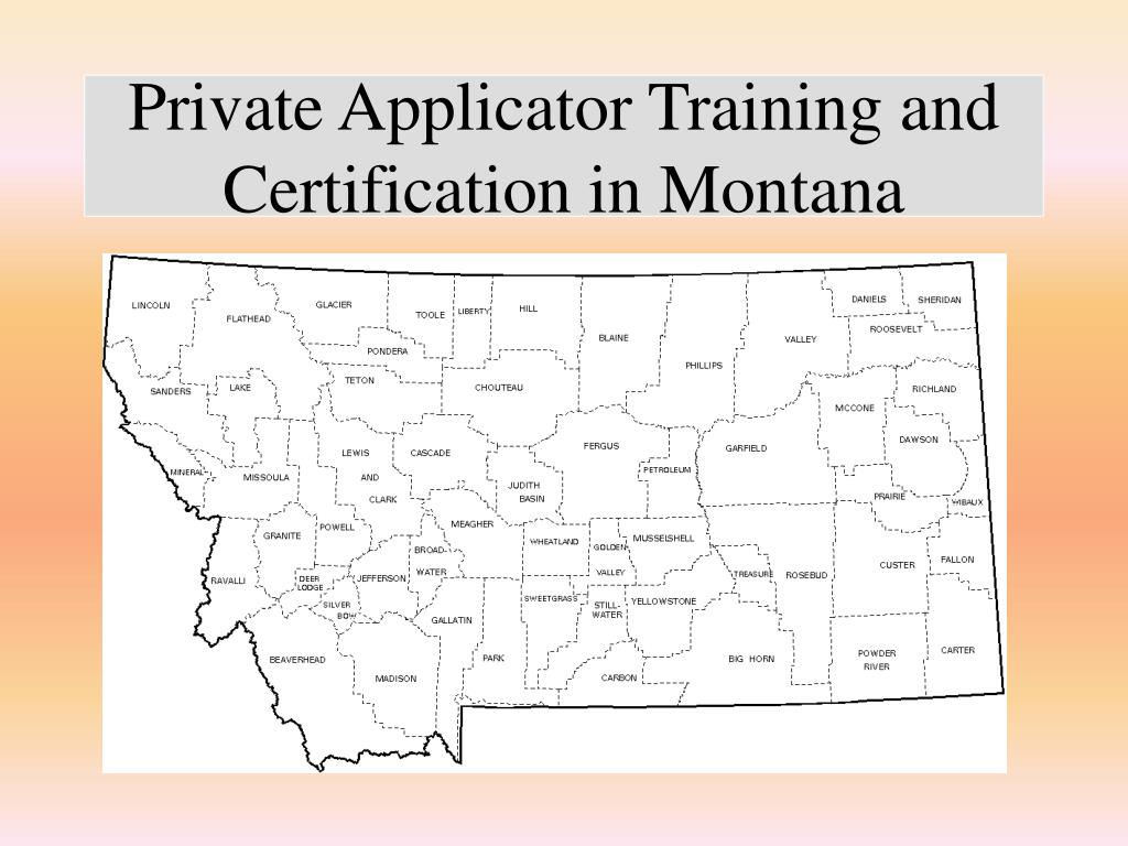 private applicator training and certification in montana l.