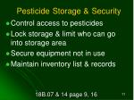 pesticide storage security