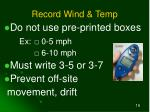 record wind temp
