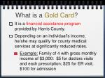 what is a gold card