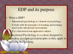 edp and its purpose