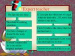 expert teacher