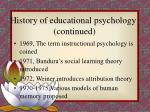 history of educational psychology continued20