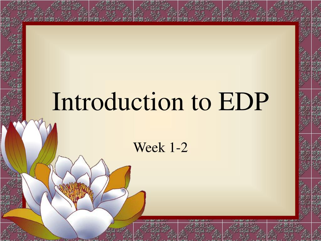 introduction to edp l.