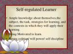 self regulated learner