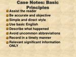 case notes basic principles