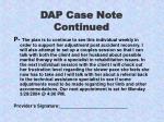 dap case note continued