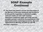 soap example continued22