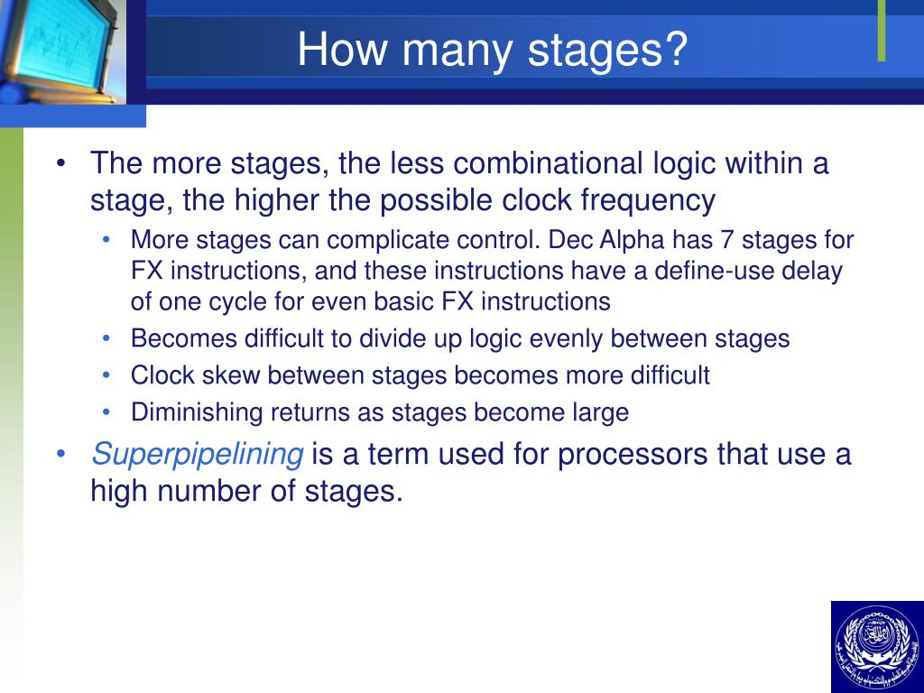 How many stages?